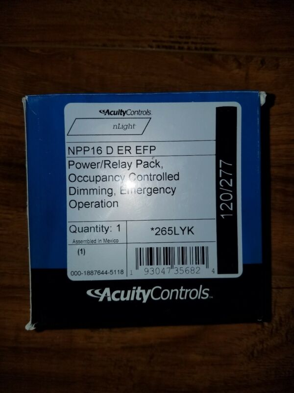 ACUITY CONTROLS NPP16 D ER EFP power/ relay pack emergency operation