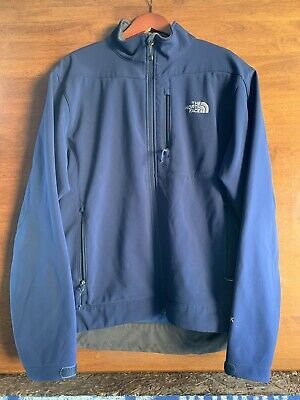 THE NORTH FACE Apex Blue Soft Shell Full Zip Jacket Windbreaker Mens Large L