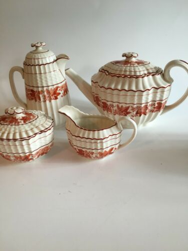 Antique Copeland Spode Valencia Orange Tea Set