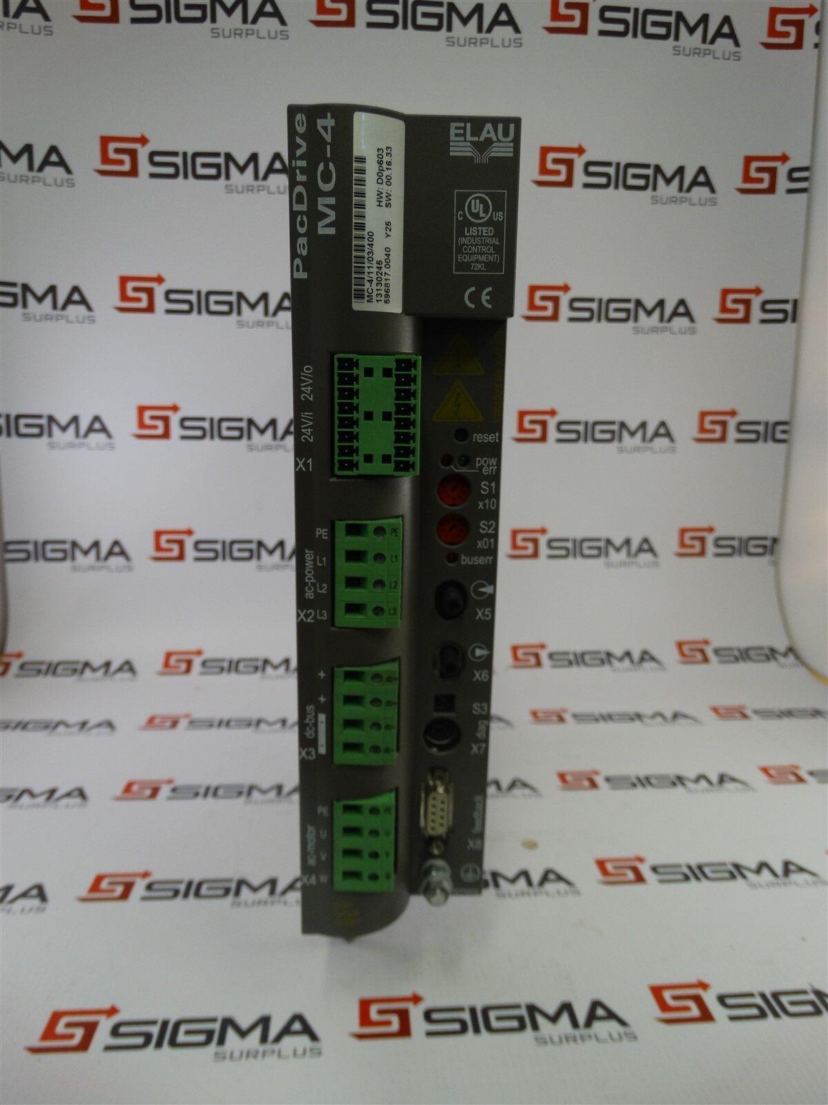 Schneider Electric Elau PacDrive MC-4/11/03/400 HW: E0R603 SW: 00.12.31