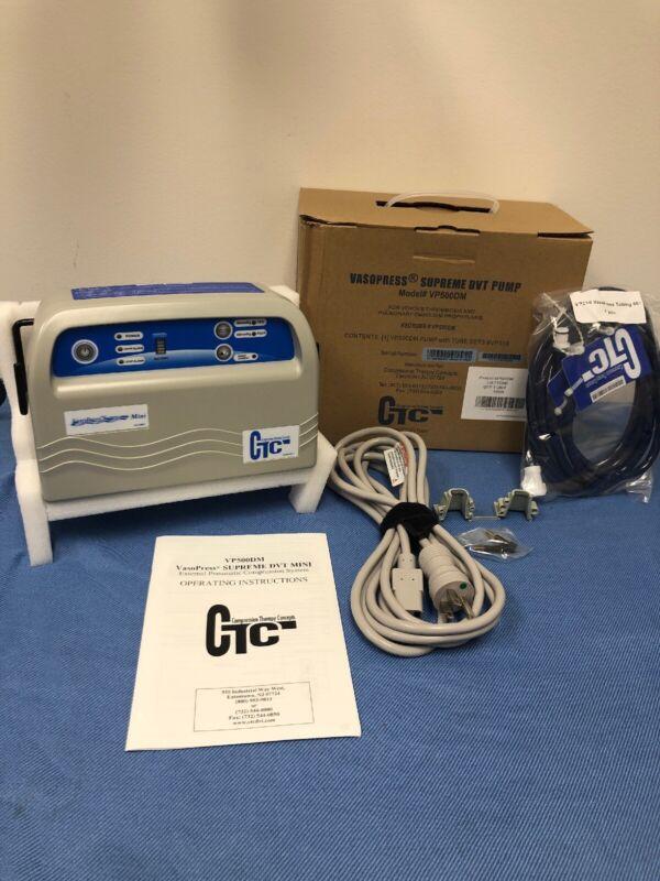 Vasopress Supreme Mini DVT Pump VP500DM CTC VASO PRESS W/ Tubing NEW