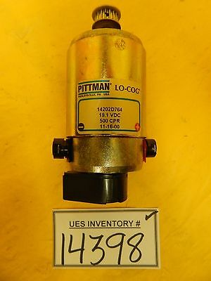 Pittman 14202d764 Dc Servo Motor Lo-cog Used Working