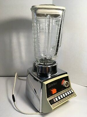 Vintage Osterizer Blender Pulse Matic 16, Dual Range, Complete W/ Glass, Works