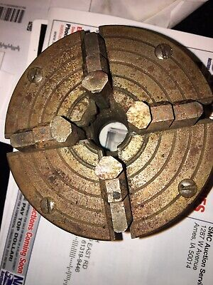 Atlas Craftsman Metal Lathe 4 4 Jaw Chuck 1-8 Tpi Used Machine Part Jshelf 2