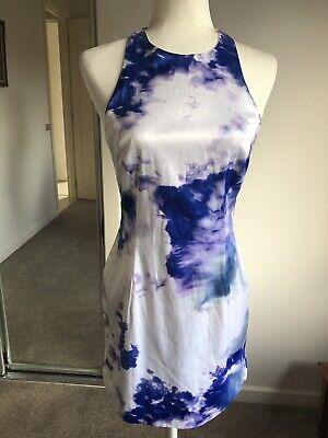 White/Blue Mini Dress Tie Dye Party Cocktail EUC (Tie-dye-party)
