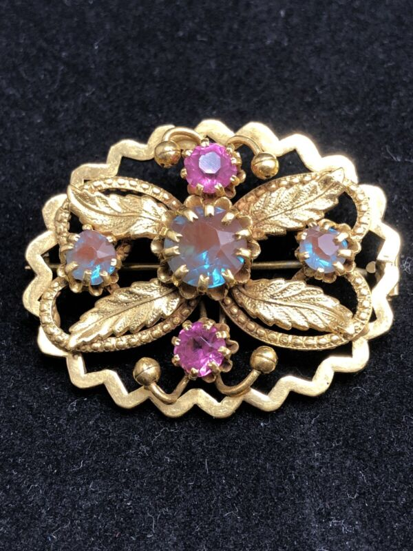 "Antique saphiret brooch ""Spring garden"""