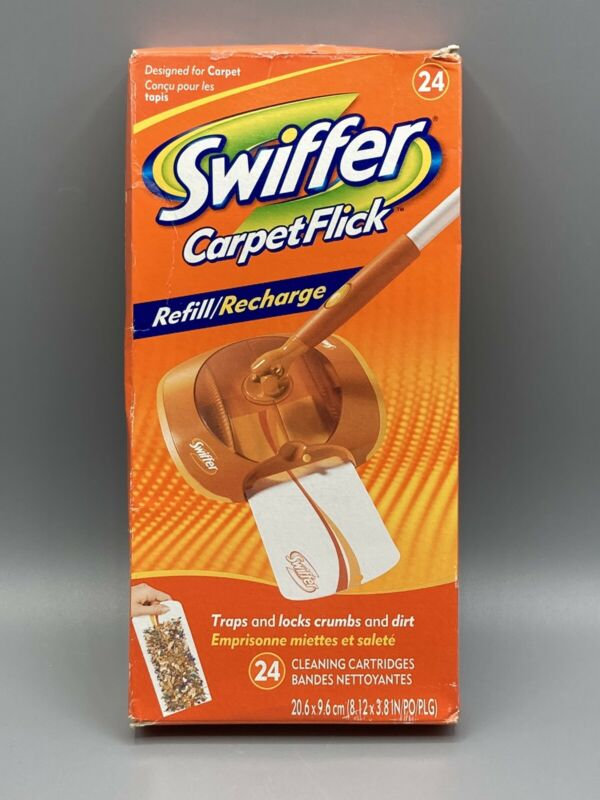 NEW Swiffer Carpet Flick Refill Recharge 24 Cleaning Cartridges Double Action