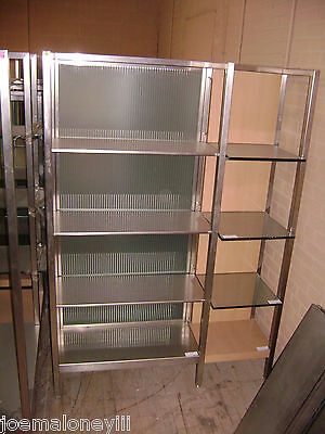Large Retail Glass Metal Shelving  Modern Retail Display Stand