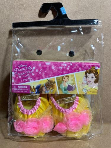 Disney Princess Slipper Shoes Child Fits 7-11 Yellow Pink Go