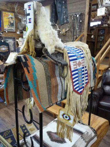 Old Beaded Saddle