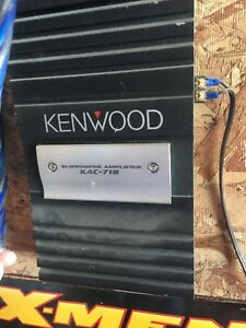 KENWOOD 2 channel amp.
