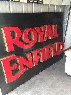 Light up dealer sign. Royal Enfield  large.