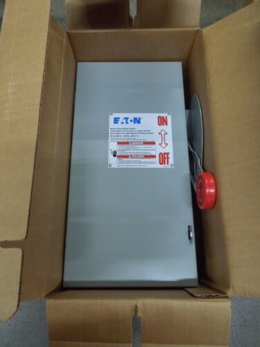 Eaton Dh361fgk Heavy Duty Fusible Safety Switch 30a 3w 600v Nema 1 Indoor New