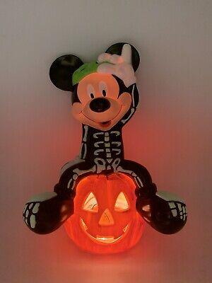 Disney Mickey Mouse Dressed as Skeleton Halloween Blowmold Pumpkin Light 1999