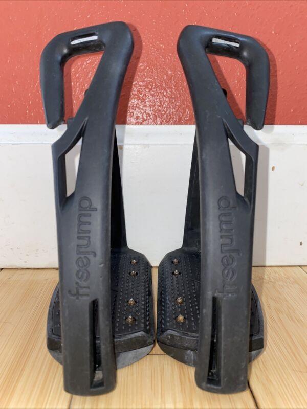 Free Jump Soft Up Pro Stirrups - Black/Black