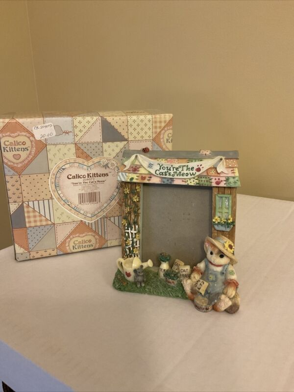 "Rare 1996 Calico Kittens ""You're The Cat's Meow"" #204072 Photo Frame"