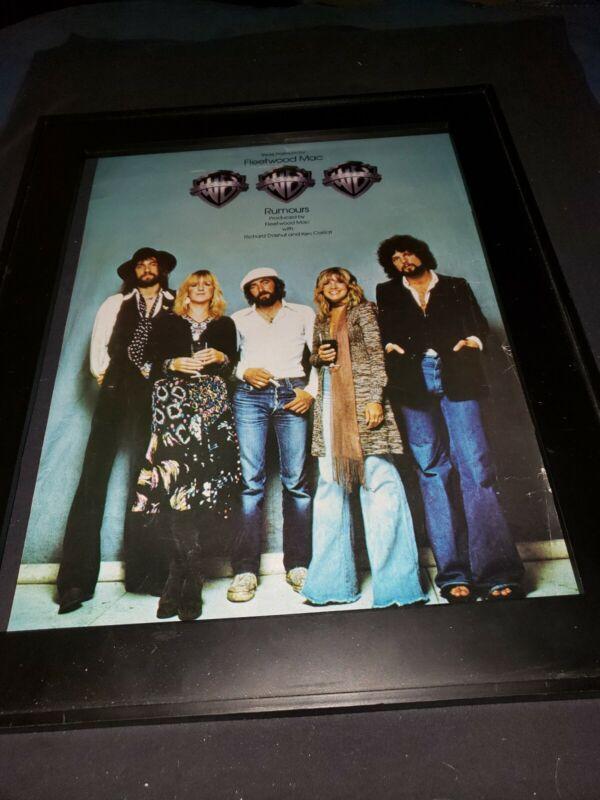 Fleetwood Mac Rumors Rare Original Promo Poster Ad Framed! #3