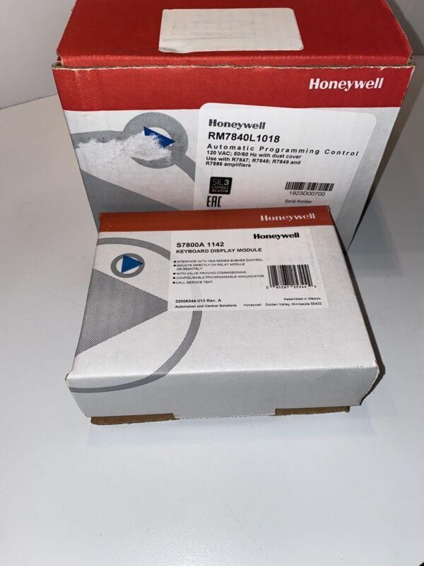 HONEYWELL RM7840L 1018 Programming Controls W/S7800A 1142 Keyboard