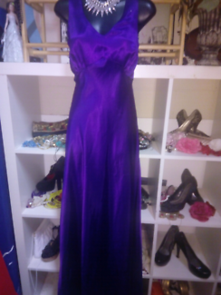 Purple patch evening dresses