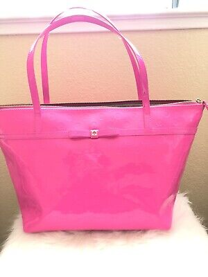 Kate Spade Hot Pink Tote Bag Pre-Owned