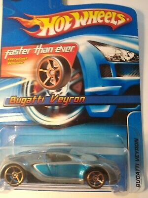 Hot Wheels Bugatti Veyron #144 Grey And Blue Faster Than Ever Wheels