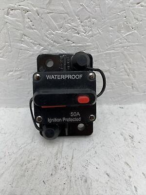 50a Amp Circuit Breaker Fuse Reset 12v-48v Dc Car Boat Auto Waterproof