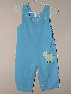 Yo Yo Clothing 12M Dinosaur Longall Romper Blue Corduroy Green Boutique Boy