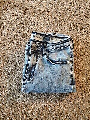 Juniors Women's Blue Denim Jeans Super Skinny Size 1 Bullhead .