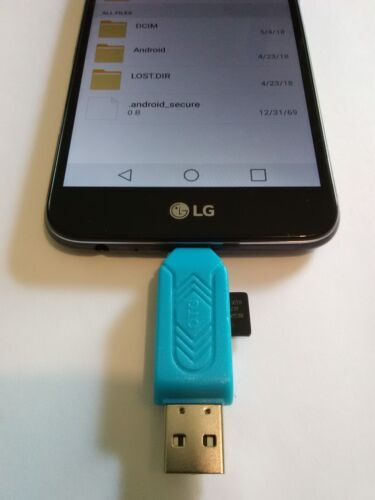 CARD READER 2 in 1 USB2.0 MicroUSBMicroSDfor Smartphone PC Tablet (Blue)...