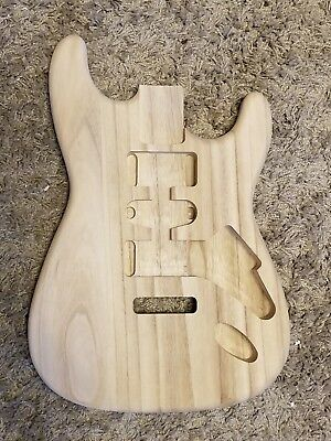 FOUR UNFINISHED Paulownia DIY  Strat/Tele STYLE  ELECTRIC  GUITAR BODIES
