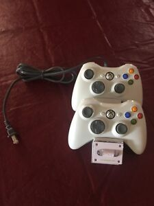 Xbox 360 controllers (2) and charging station