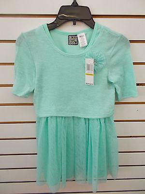 Girls Pogo Club  42 Light Mint Dress W  Mesh Overlay Size 4   10 12
