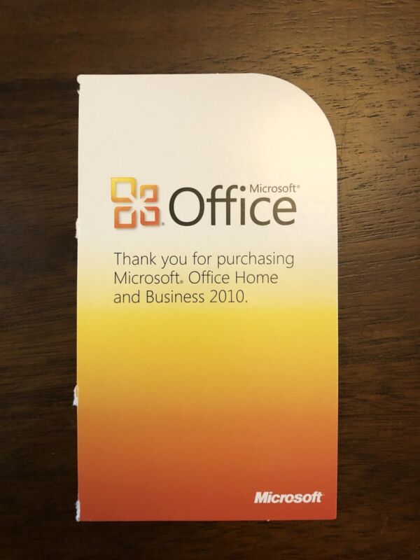 Microsoft Office Home and Business 2010 Product Key Card Download (License Only)