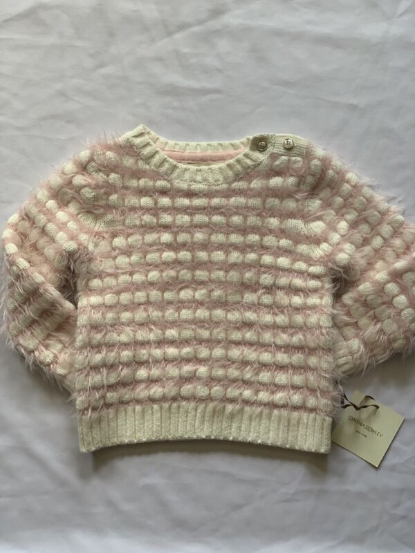 Cynthia Rowley Girls Cotton Fuzzy  Pullover Sweater Size 2T