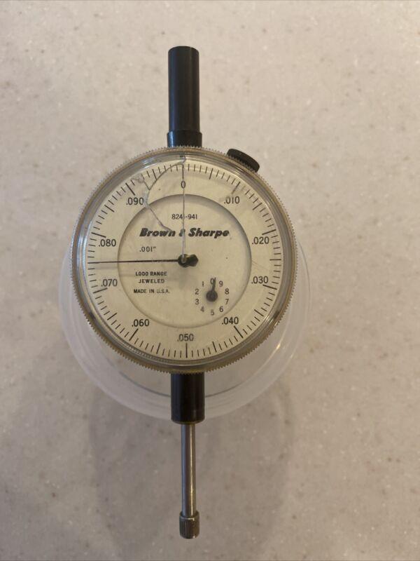 Brown & Sharpe Brown 8241-941 Dial Test Indicator - 0-.700