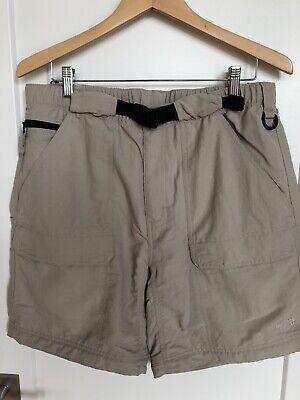 The North Face Mens Nylon Hiking Khaki Shorts W/ Belt Size L Large