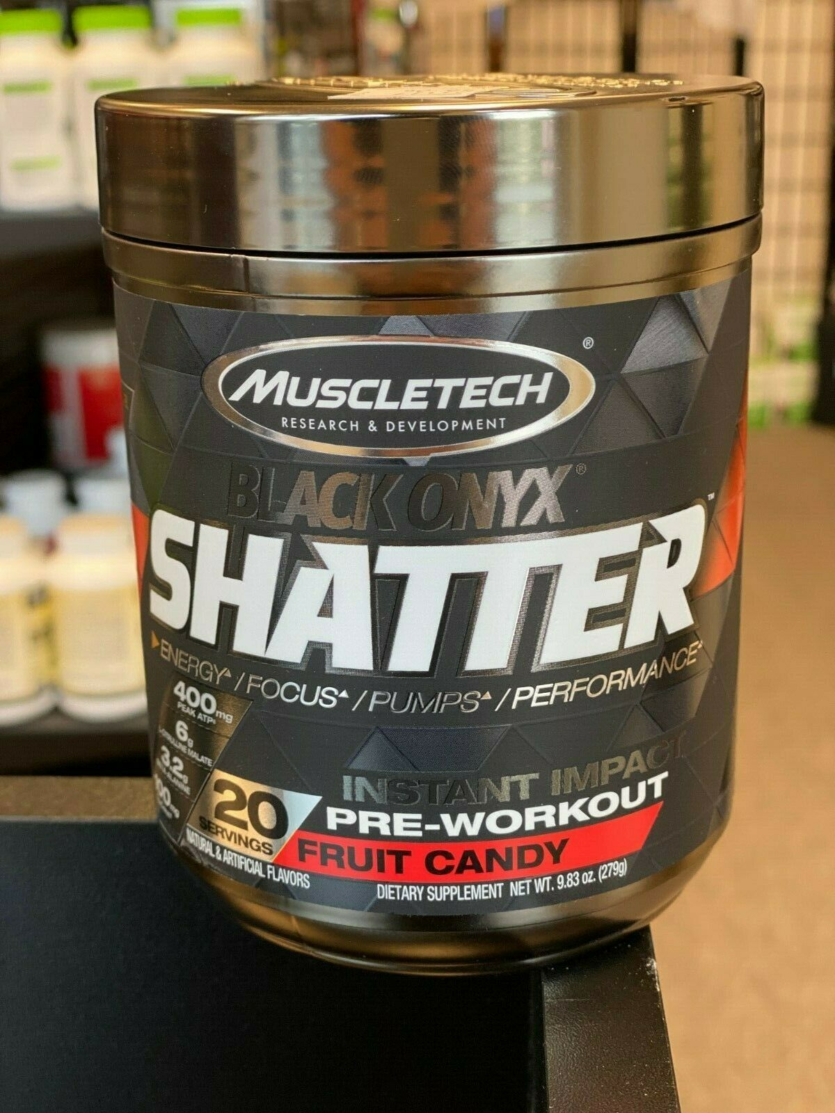 MuscleTech Shatter Back Onyx Pre Workout 20 Servings Free Shipping