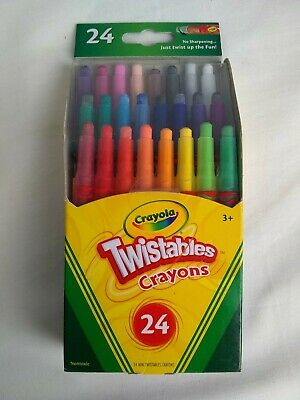 Crayola Twistables Mini Crayons, Wax, 24 Colors/Pack - Twistables Crayons