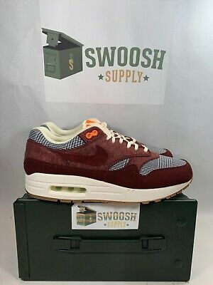 Nike Air Max 1 Houndstooth Bronze Eclipse Orange New Men's 13 CT1207-200