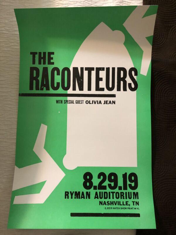2019 RACONTEURS Ryman HATCH SHOW PRINT Nashville Poster Jack White Stripes #1
