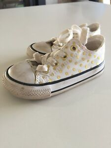 Converse All-Star Gold Poka Dot Sneakers