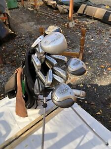 Left Handed golf set with two golf bags