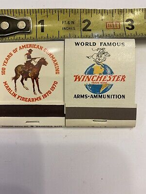 Vintage NOS 1 Winchester Arms Ammo Western and Marlin Firearms Match Book 1 Each
