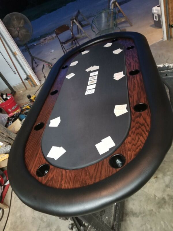 """96""""x48""""x4"""" 8- or 10-player Racetrack Poker Tables. See Description for OPTIONS"""