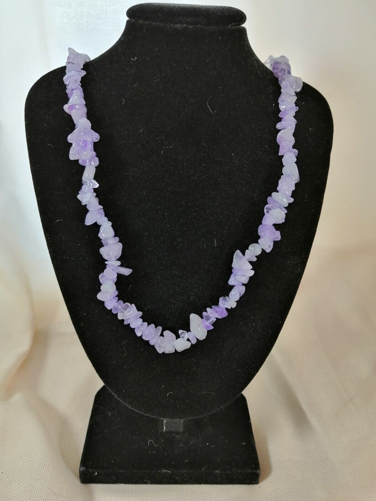"Lavender Amethyst Chip Necklace 16"" to 34"", Long Necklace, Short Necklace"