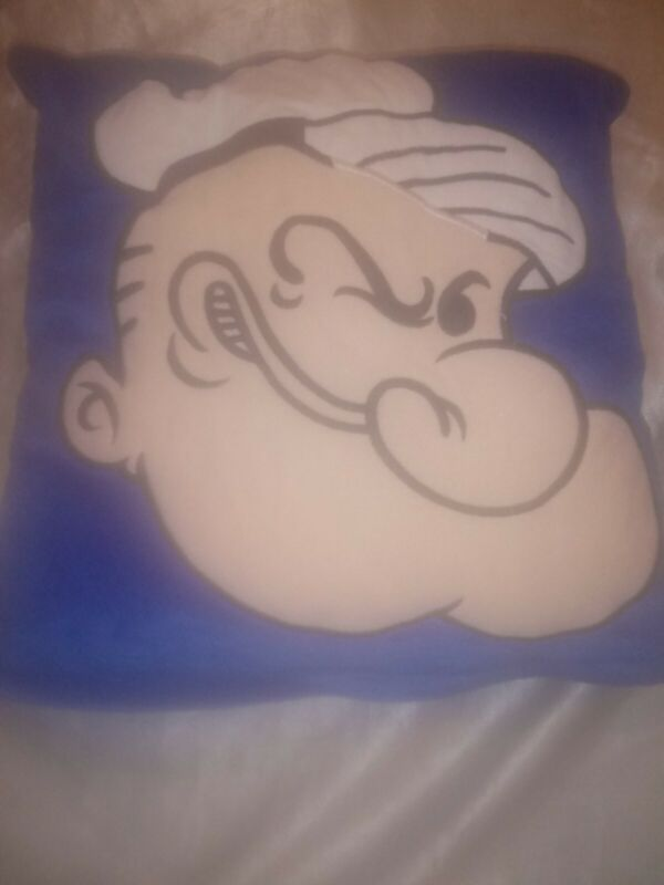 RARE 1997 POPEYE THE SAILOR MAN SOFT PILLOW SMALL