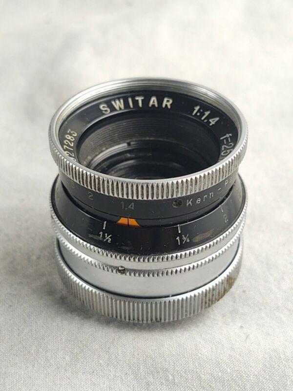 Kern Switar 25mm F1.4 DV lens for Bolex H16