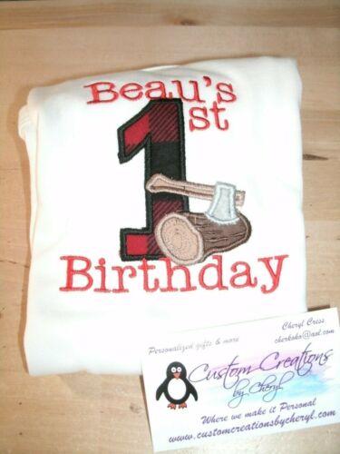 Lumberjack 1st Birthday Personalized Birthday Shirt