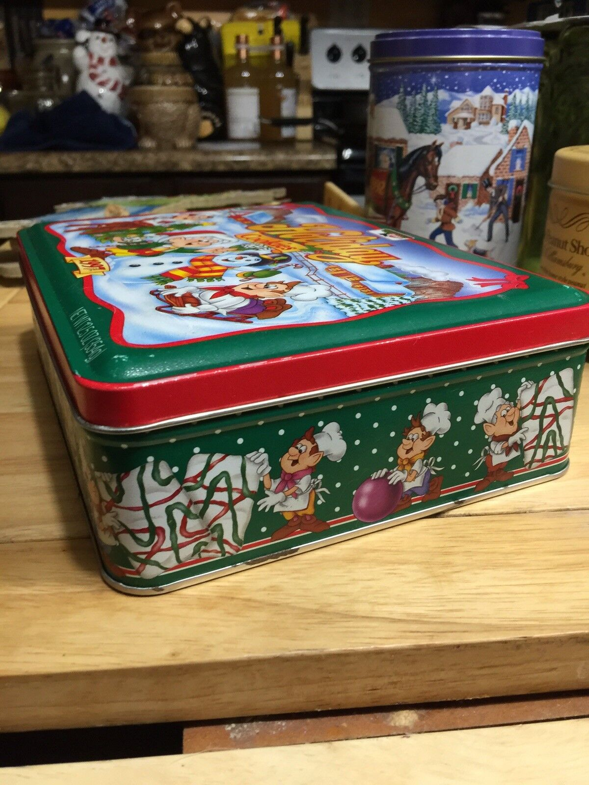 1997 KEEBLER ELVES Holiday Cookies Tin Christmas - $12.50 | PicClick