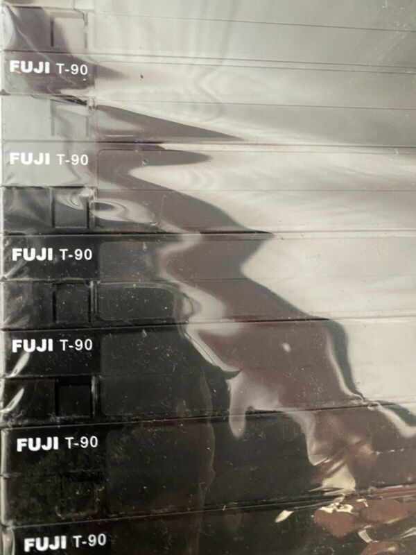 Pack of 10 Fuji t-90 VHS New Blank Cassettes